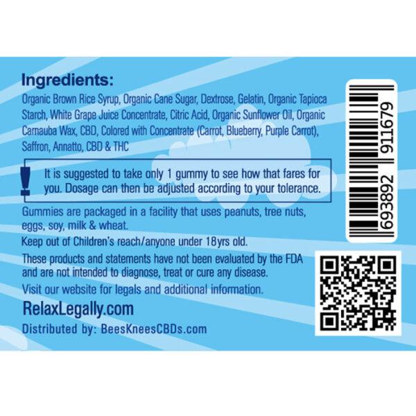 CBD Gummies Ingredients Label